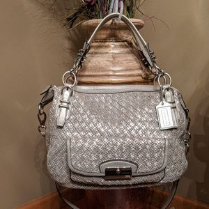Coach 19747 Kristin Pinnacle Woven Leather Satchel
